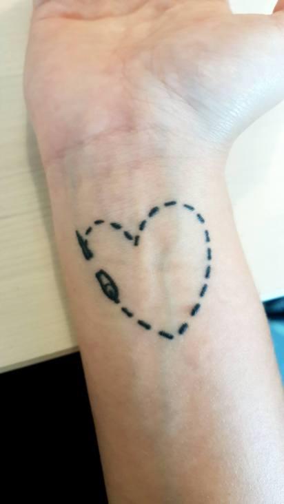 Découvrez le tatouage 100% couture d'Aurélie