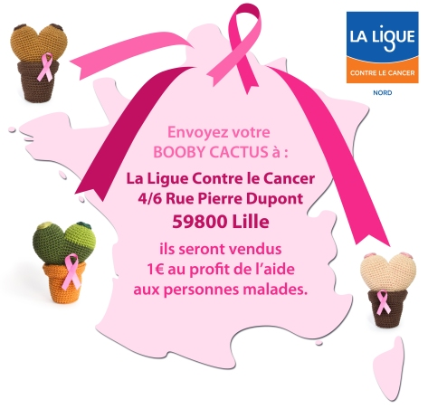 BOOBY CACTUS - Ligue Contre le Cancer Nord - FROGandTOAD Créations