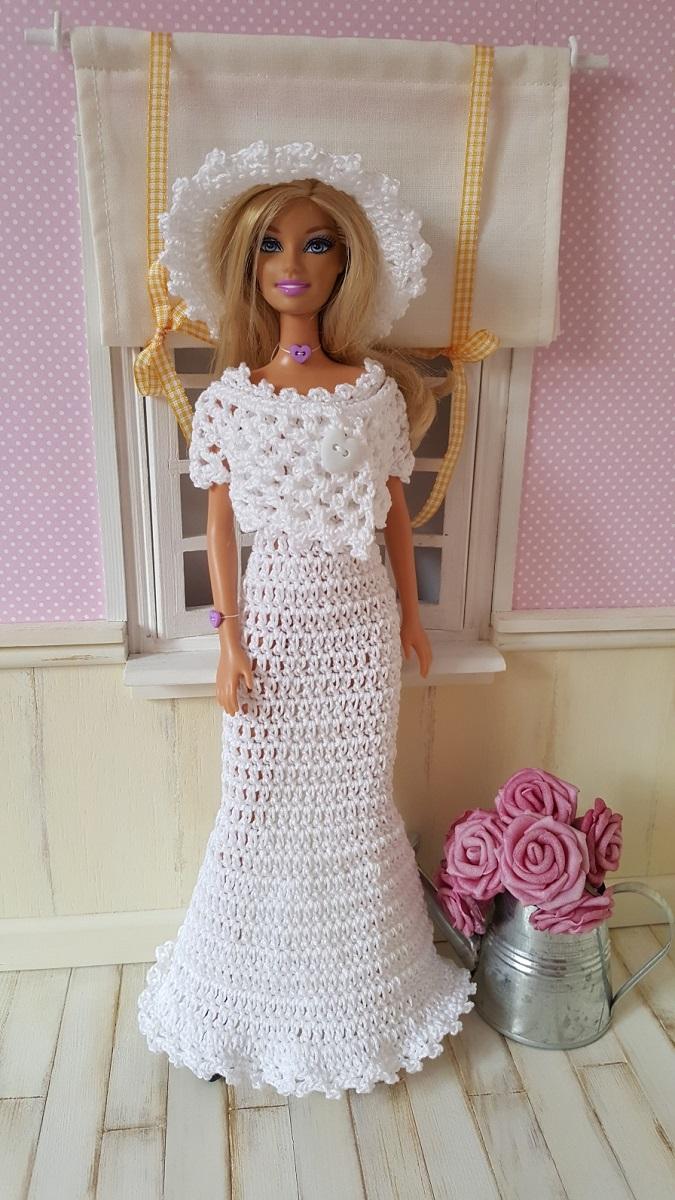 Robe de mariée à crocheter Barbie