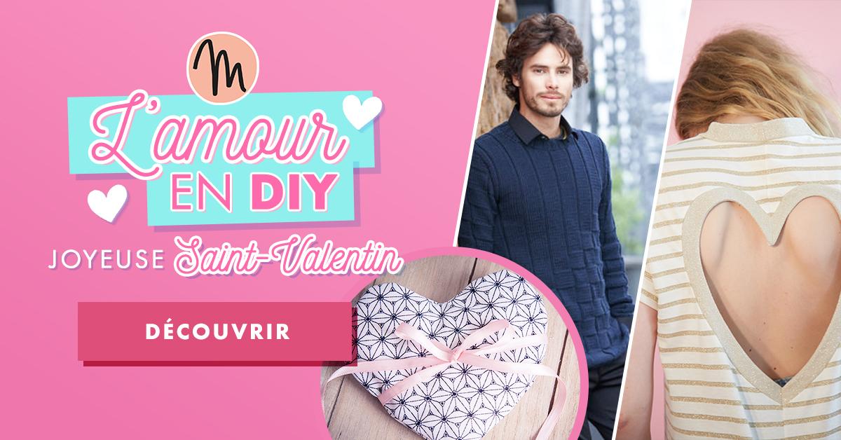 Modèles couture, tricot et crochet sur le thème de la Saint Valentin