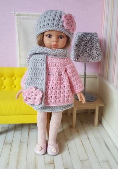 Tenue Marianne pour poupée à crocheter