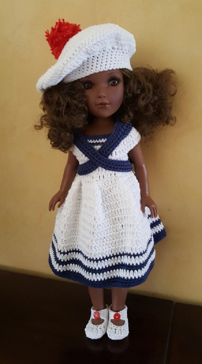 Tenue poupée Marina à crocheter
