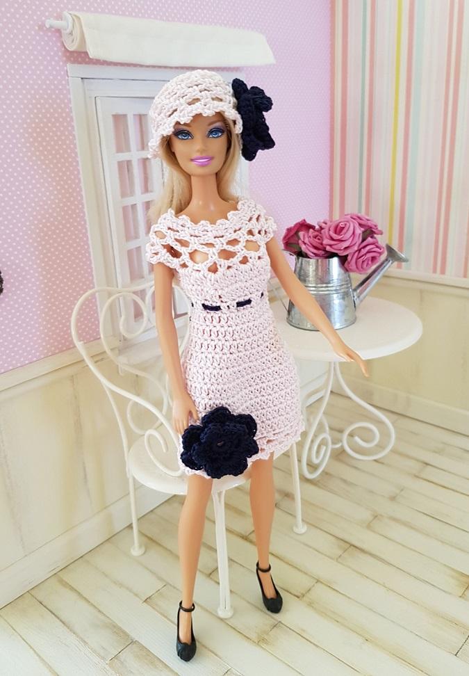 Patron crochet ensemble Peppa Barbie