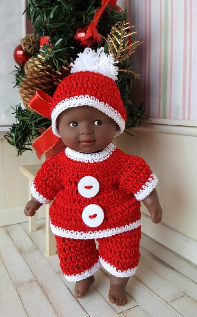Tuto crochet ensemble Père Noël poupée