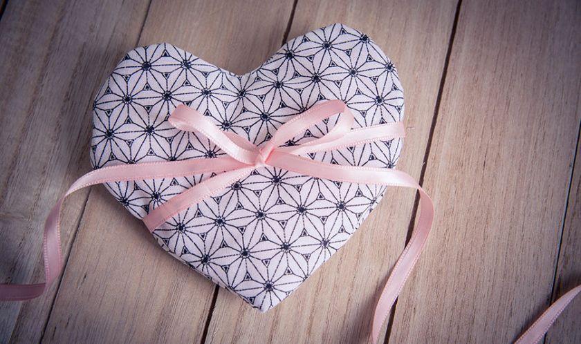tutoriel couture petite bouillotte sèche en forme de coeur