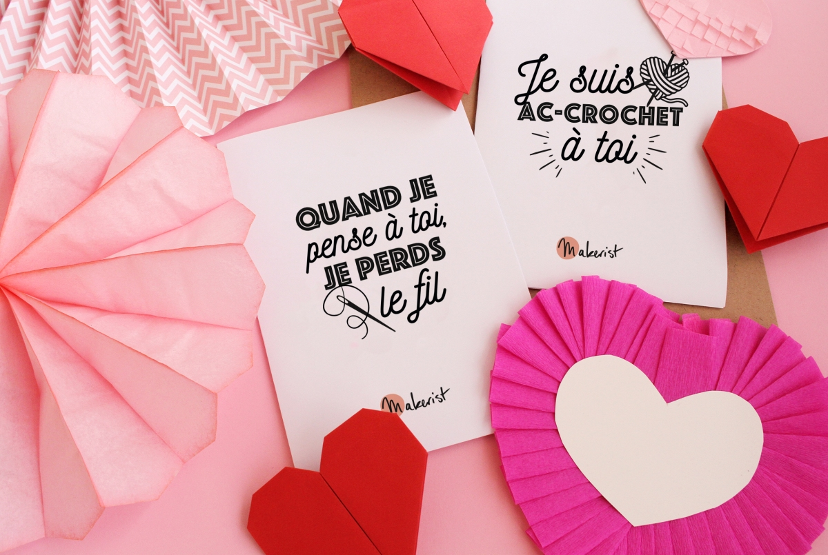 Imprimez gratuitement de jolies cartes de Saint-Valentin ❤️