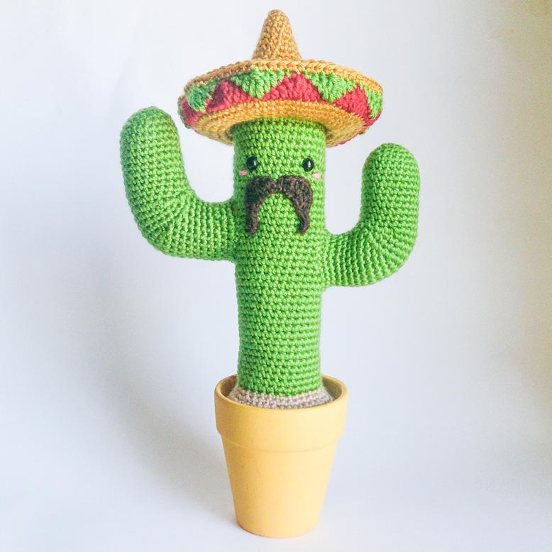 Tuto crochet Cactus mexicain