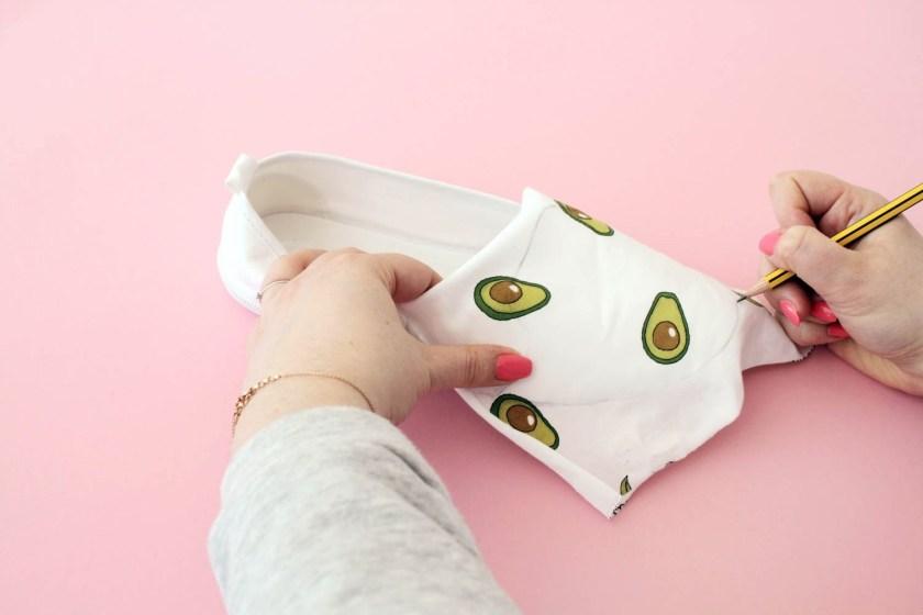 Tuto DIY - Customiser des chaussures d'été avec du tissu