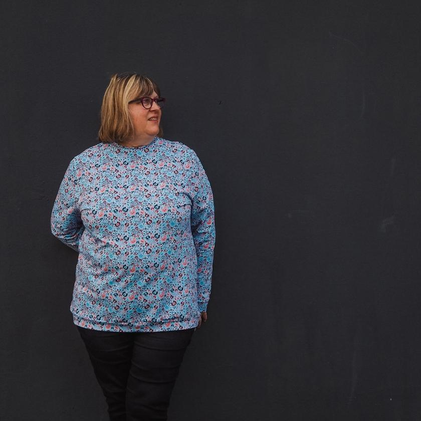 Patron de couture grandes tailles - Sweat Andrea Pulpeuse Petit Patron